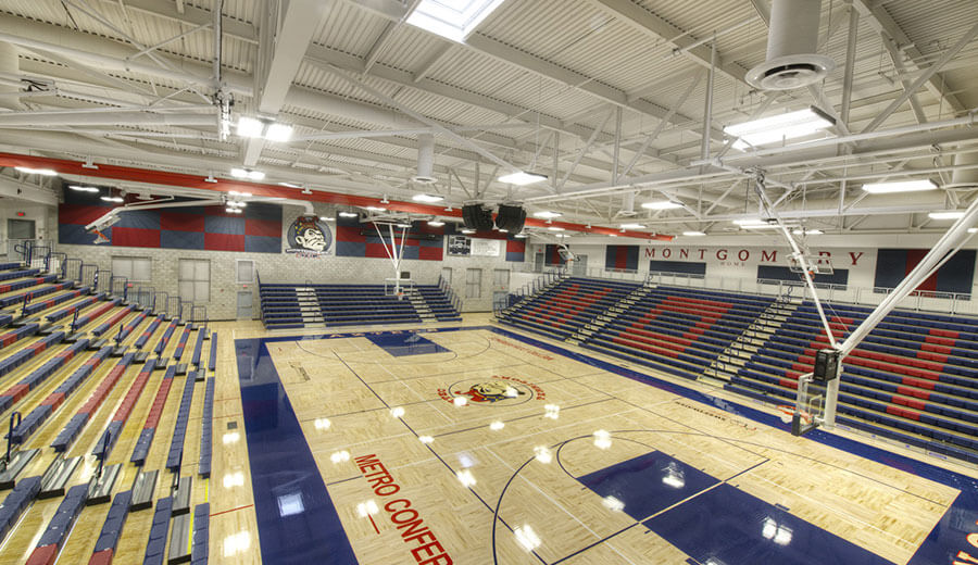 Montgomery high school soltek pacific for 3000 sq ft gym layout